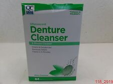 Qty=12, Quality Choice Denture Cleanser Tablets 84 ct per box - Mint