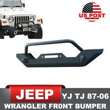 Off Road Front Bumper Bull Bar for 87-06 Jeep YJ TJ Wrangler With Winch Plate