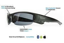buhel SG05 SOUNDglasses bone conduction Smart Bluetooth Sound Sunglasses - Black