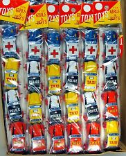 1 Set of 1950s Vintage Tin Emergency Penny Toy Cars by Nakamura of Japan, NOS