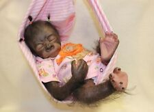 Reborn Gorilla Pearl by Kit Denise Pratt Painted Hand-rooted Hair