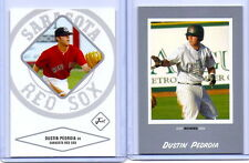 """DUSTIN PEDROIA 2004 JUST MINORS SILVER EDITION """"2"""" CARD ROOKIE CARD LOT! RED SOX"""