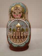 Russian Genuine Wooden Doll/Matrioshka  Hand Made Hand Painted with Poker Works