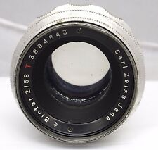 Vintage Carl Zeiss Jena Biotar red T 58mm f/2 M42 Lens Photo Camera