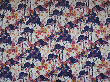 "LIBERTY OF LONDON TANA LAWN FABRIC  ""Umbrellino"" 1 METRE (100 CM) PURPLE"