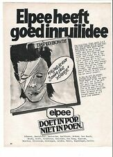 DAVID BOWIE album Dutch magazine ADVERT / Poster 11x8 inches