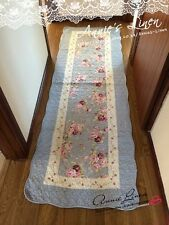 Blue country rose matelassé laura ashley tissu bain/lit/tapis/tapis/tapis MM01