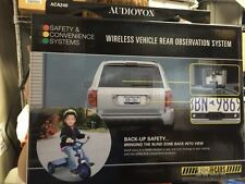 """AUDIOVOX ACA240 WIRELESS CAR LICENSE PLATE REAR VIEW BACK UP CAMERA 2.5"""" MONITOR"""