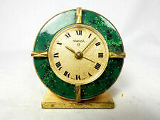 Bellissima SWIZA reiseuhr SVEGLIA ALLARME table clock SWISS MADE 8 days working 09937