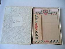 Vintage Boxed Set Carlton Cards STATIONERY ENVELOPES Country CrossStitch HEARTS
