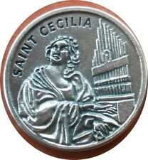 Saint St. Cecilia Holy Prayer Coin Token + Music & Song