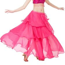 3 Layers Belly Dance Full Gypsy Long Tribal Layered Skirt Coins Fancy Costumes