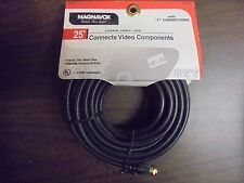 "Magnavox 25ft Coaxial Cable RG6 Connects Video Componants with ""F"" Connectors"