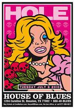Scrojo Hole House Of Blues Houston Texas 2010 Poster Courtney Love Hole_1007
