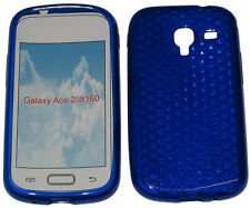 For Samsung Galaxy Ace 2 GT i8160 Pattern Gel Jelly Case Protector Cover Blue UK