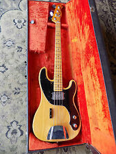 1977 Fender Telecaster Bass electric bass NATURAL FINISH maple fingerboard CBS