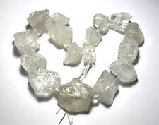 "15.5"" NATURAL Clear Quartz Raw Nugget Beads approx. 20x20mm to 25x30mm K4050"