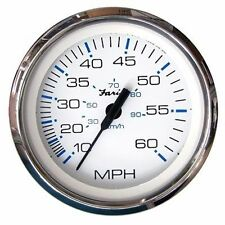 Faria Chesapeake White SS Speedometer Mechanical 60 MPH 33811 MD