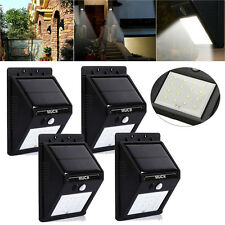 4pc 16 LED Solar Power Sensor Wall Light Security Motion Waterproof Outdoor Lamp