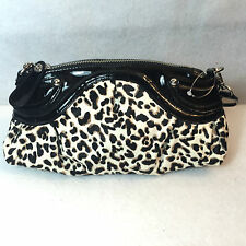 White House Black Market Leopard Calf Hair Shoulder Bag Purse Clutch
