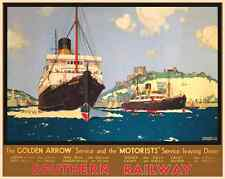 A DOVER KENT HOLIDAY RETRO ART VINTAGE RAILWAY TRAVEL POSTER ADVERTISING PRINT