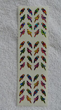 Sandylion PARROTS/BIRDS RETIRED Vtg Mini Prism Stickers VERY RARE