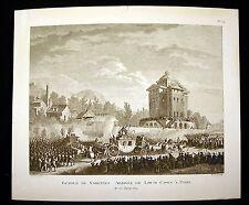 Retour de Varennes Arrivée de Louis (XVI) Capet à Paris Révolution française XIX