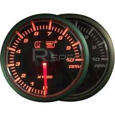 Prosport 45mm di benzina RPM 0-10000rpm Gauge Amber / Cancella Motore Passo-Passo