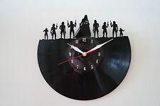 Reloj de pared Darth Vader Ejército, Star W. Diseño Vinyl Record [Negro Brillante Pegatina]