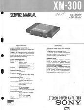 Sony Original Service Manual per car Autoradio xm-300