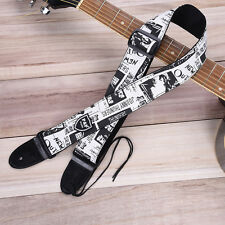 Personalized Pattern Adjustable Guitar Strap PU Leather Electric Bass Belt