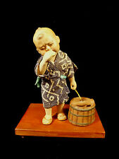 SIGNED HAKATA URASAKI DOLL – LITTLE BOY CRYING – FUKUOKA JAPAN – CIRCA 1952