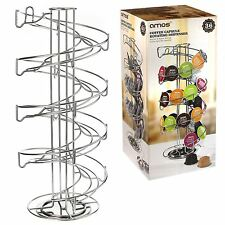 AMOS Rotating Coffee Capsule Pod Holder Stand Dolce Gusto Nespresso Tassimo Rack