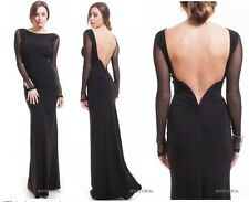 STUNNING DEEP V BACKLESS ULTRA LOW BACK LONG DRESS GOWN WEDDING FORMAL PROM