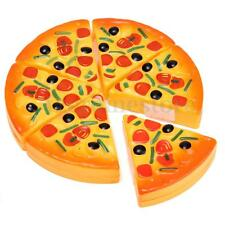 Kids Child Kitchen Pizza Party Fast Food Slices Cutting Pretend Play Food Toy
