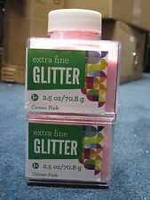 """Sulyn Extra Fine Glitter """"Cameo Pink"""" 2.5 oz LOT OF TWO (2)"""
