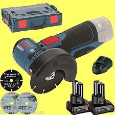 BOSCH Akku-Winkelschleifer GWS 12-76 V-EC 2 x 4,0Ah  + L-Boxx wie 10,8
