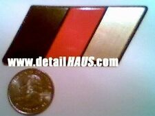 THE ORIGINAL - GOLD GERMAN FLAG BADGE EMBLEM FOR VW AUDI BMW MERCEDES PORSCHE