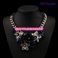 Hot Fashion Accessories Women Gold Chain Spray Paint Metal Flower  Necklaces