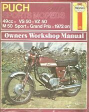 PUCH VS50S VZ50/30P VF50 SPORT M50 SPORT GRAND PRIX SPECIAL REPAIR MANUAL *NEW*