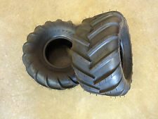 TWO New 21X11.00-8 OTR 22 Mag Zero Turn Mower Tires 21X11-8 Chevron Bar Tread