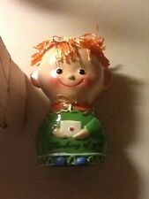 Vintage 1960's Ceramic Mail-A-Doll Coin Bank New In Box