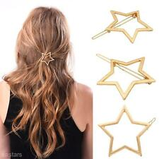 Women's Hair Clip Metal Hollow Star Hairpin Party Hair Accessory Birthday Gift