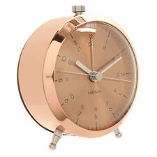 Karlsson BUTTON ALARM CLOCK Nautical COPPER Silent 9cm diam
