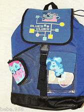 "*BLUE'S CLUES*  LARGE ANY  BLUE CANVAS  BACKPACK   19""X12"""
