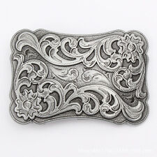 Vintage Flower Tattoo Men's Belt Buckle Western Cowboy Motorcyclist (TT-01-S)