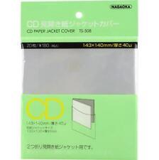 New NAGAOKA Outer Plastic Sleeve Gatefold MINI-LP CD TS-508 20 sheets Japan