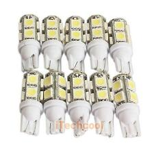 10PCS 194 168 W5W T10 9SMD-5050 LED White Light Car Tail Lamp Bulb Bright Light