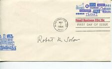 Robert Solow Nobel Prize Economics Winner Rare Signed Autograph FDC