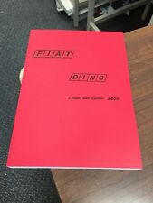 Fiat Dino (Factory) Workshop Manual Service Technical Ferrari 246 Repair